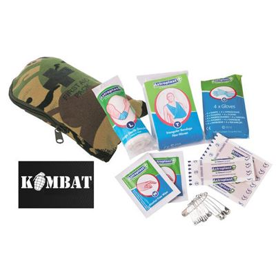 Army Combat Military First Aid Pack Kit - DPM Camo