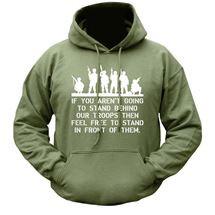 Behind Our Troops Hoodie